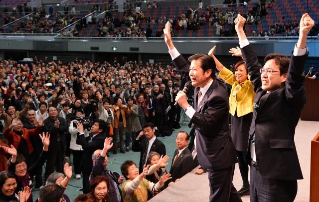 「財政の見える化」で日本再建!(4月3日、大阪市立中央体育館)