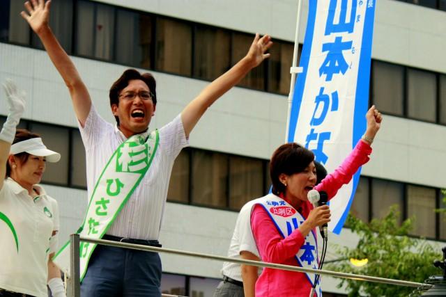 (7月14日、心斎橋にて)